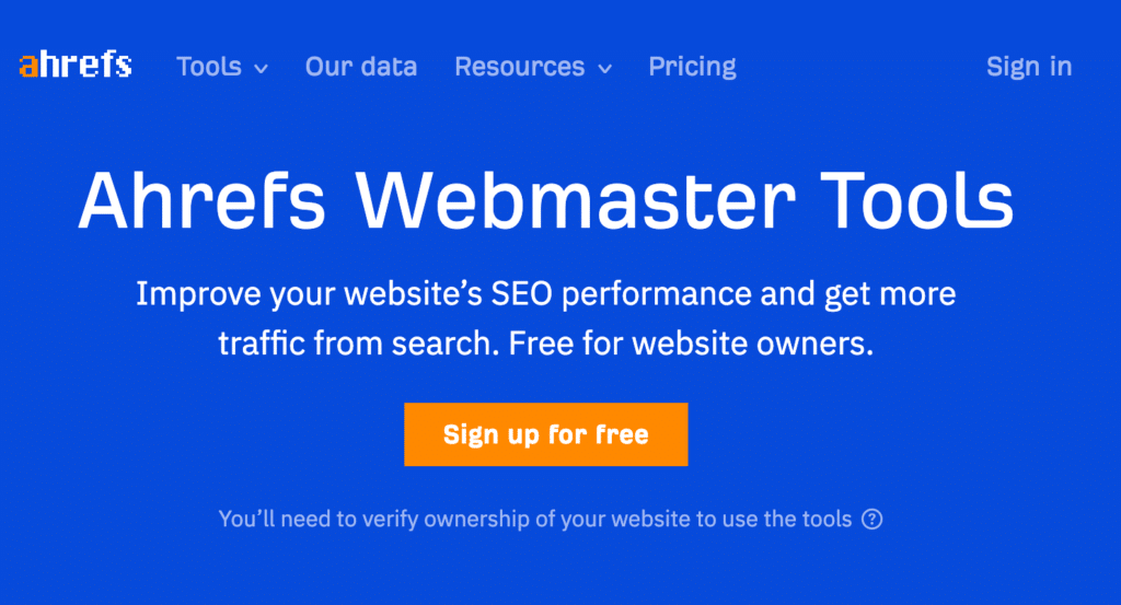 How to Use Ahrefs Webmaster tools for SEO